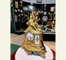 антикварные каминные часы А-003
